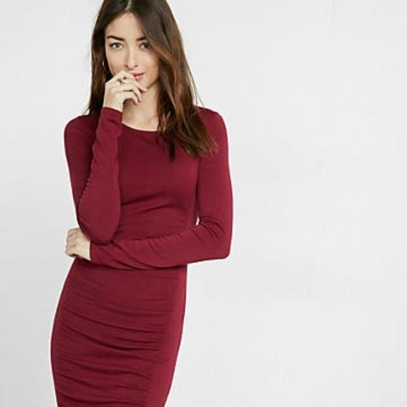 7d55d091cbe Express Dresses   Skirts - Red Long Sleeve Sweater Dress